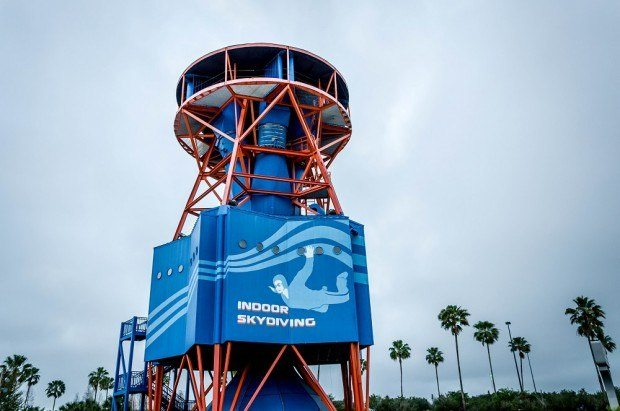 Indoor skydiving is one of the most fun things to do in Orlando for adults.