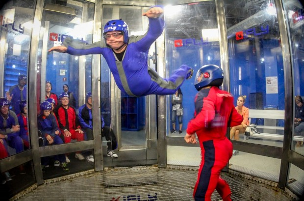 Indoor skydiving at iFLY is one of the best Orlando indoor activities for adults