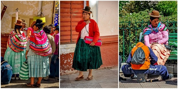While I was having a travel mishap (sick), Laura took pictures of the women of Puno, Peru
