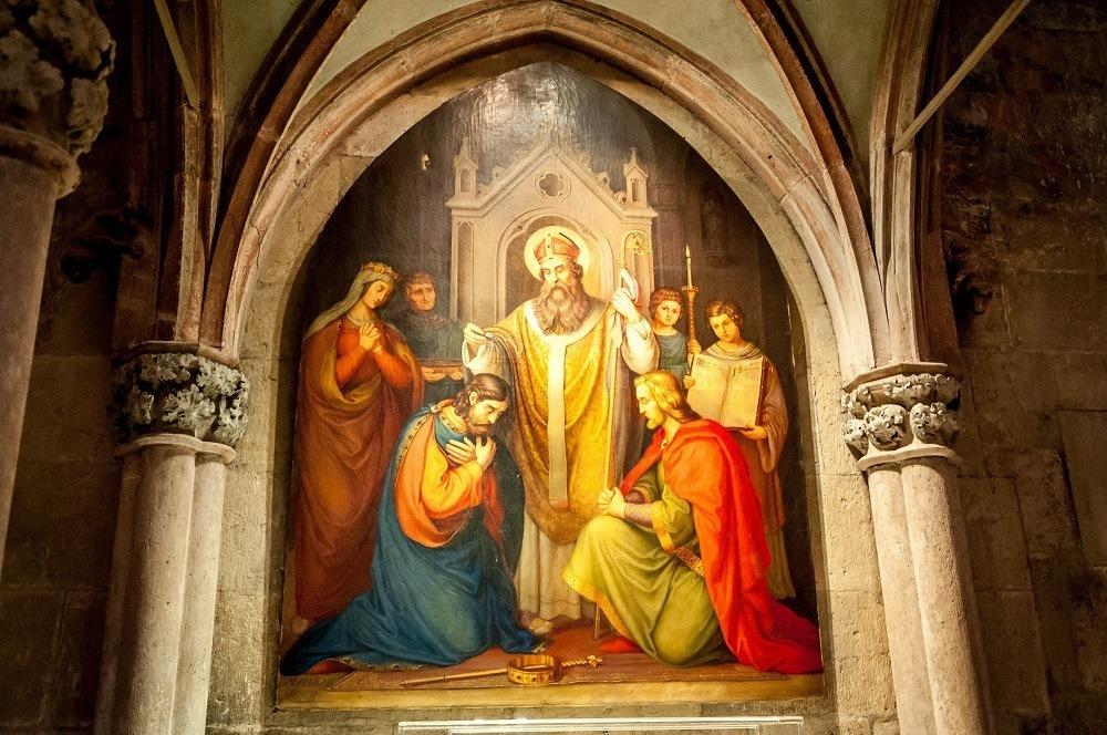 Fresco inside Dom St. Peter (St. Peter's Cathedral), Regensburg Germany.