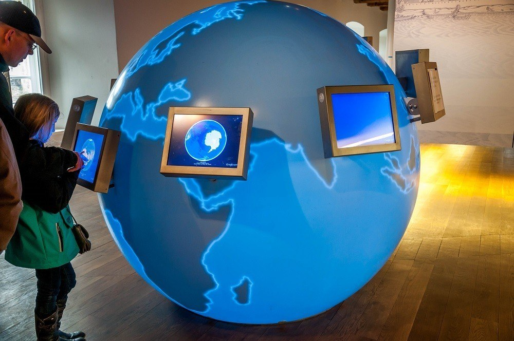 An interactive exhibit inside The UNESCO World Heritage Visitor Centre