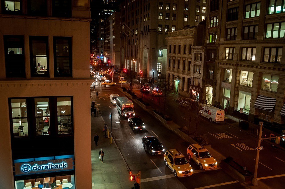View out window of Park Avenue South and 26th Street