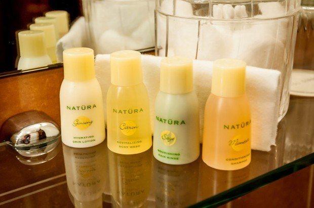 The Hotel Giraffe's bathroom amenities are by Natür.
