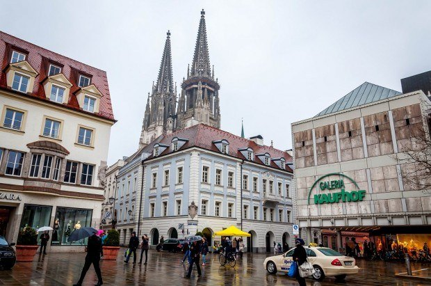Visiting Regensburg, Germany in the rain