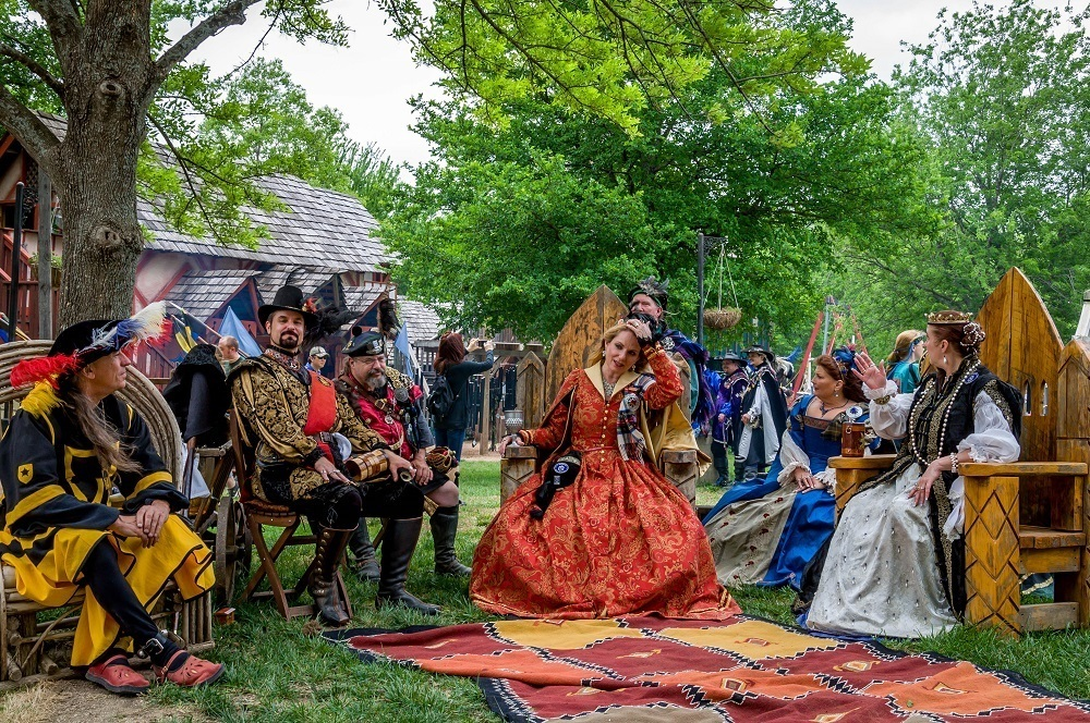 Members of the imperial court at Scarborough Renaissance Festival