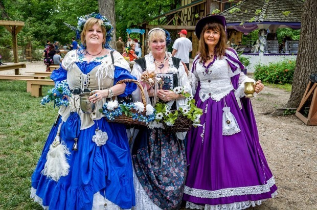 Women dressed for Scarborough Renaissance Faire