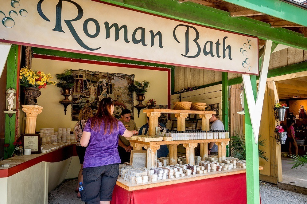 Soap shop at Scarborough Fair Texas