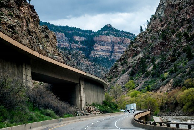 The highway in Glenwood Canyon is an engineering marvel.
