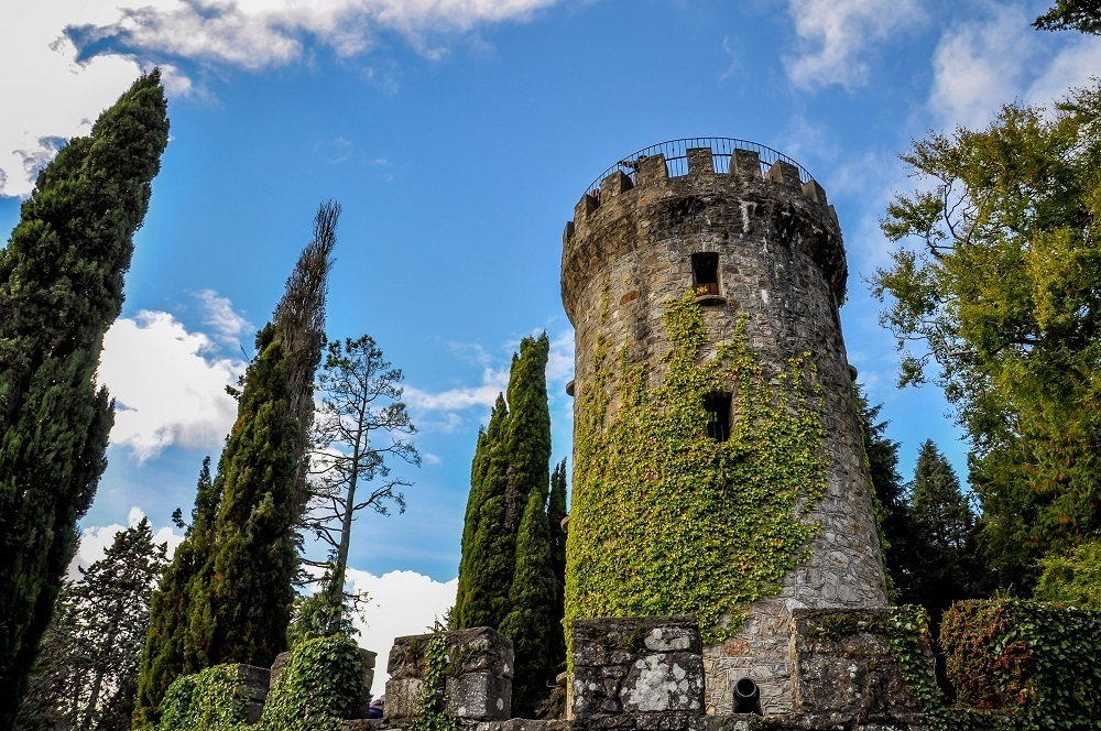 The Tower at Powerscourt Estate, as viewed from the valley below
