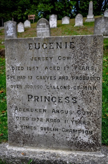 The sometimes witty and humorous pet cemetery at the Powerscourt Estate outside Dublin, Ireland