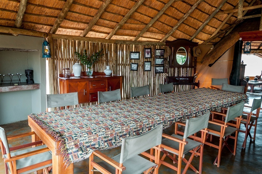 The dining room at Africa on Foot.