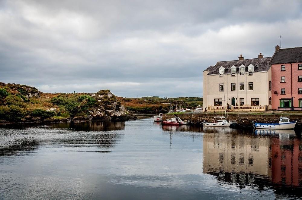 The tiny harbor of Bunbeg, Ireland, on The Wild Atlantic Way