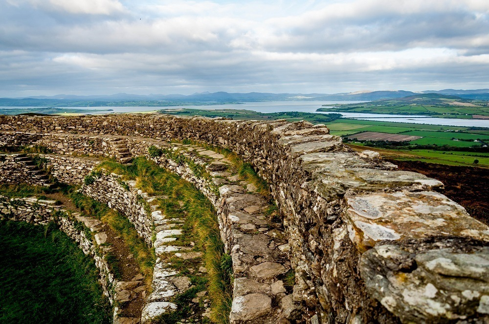 The Ring Fort of Grianan of Aileach, outside of Derry, Northern Ireland. This was the start of our adventure driving the Wild Atlantic Way.