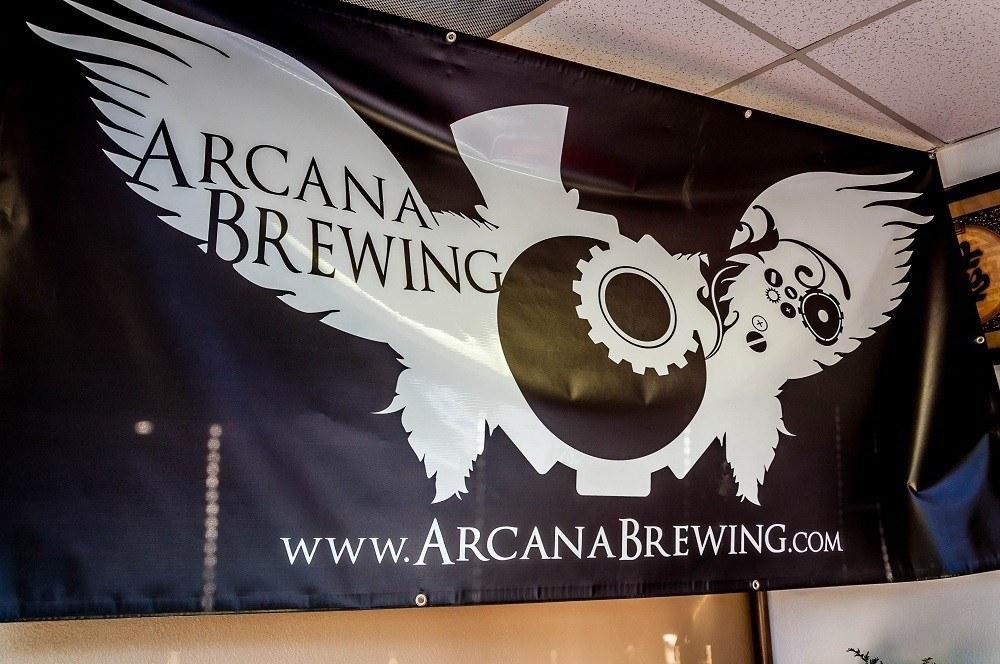 Arcana Brewing sign