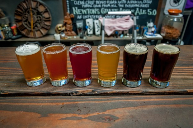 "A beer flight at one of the great San Diego breweries. San Diego claims to be the ""Craft Beer Capital of America,"" and with over 85 breweries in the county, it just might be."