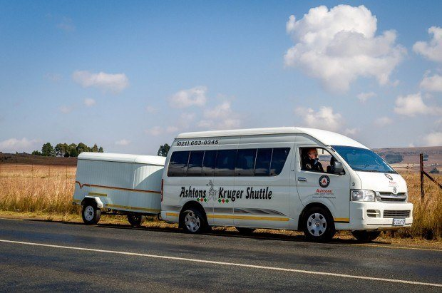 Door to door service - Ashton's Kruger Shuttle travels from Johannesburg to Kruger daily.
