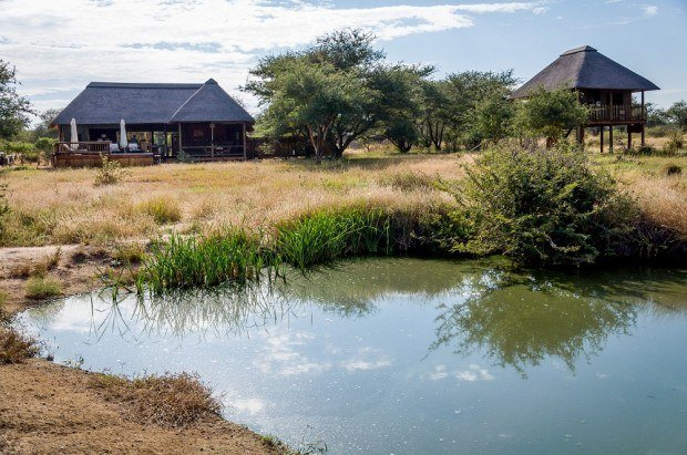 More luxurious accommodations can be found for your South African safari in the private nature reserves.  This is the nThambo Tree Camp in the Klaserie Private Nature Reserve.