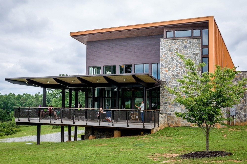 The LEED certified building at Cooper Vineyards on the Heart of Virginia Wine Trail.