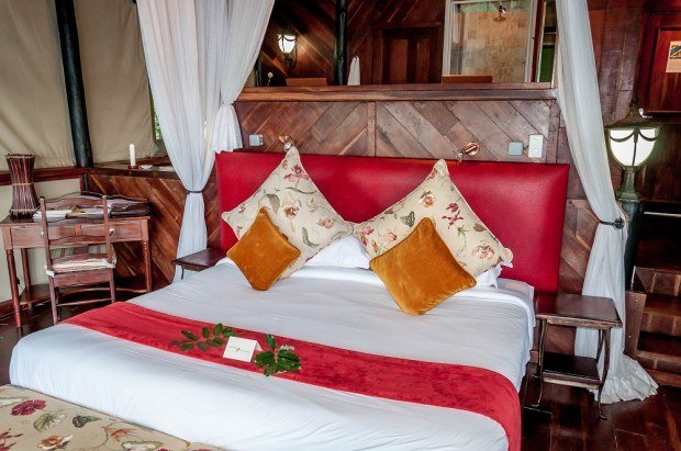 The rooms at the Islands of Siankaba are quite spacious and beautifully decorated.  We can't imagine any place in Livingstone, Zambia more romantic or relaxing.