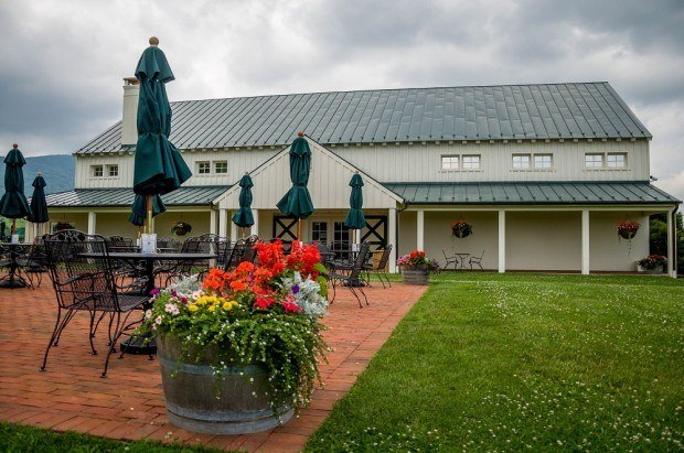 The King Family Vineyards on the Monticello Wine Trail in Charlottesville, Virginia.