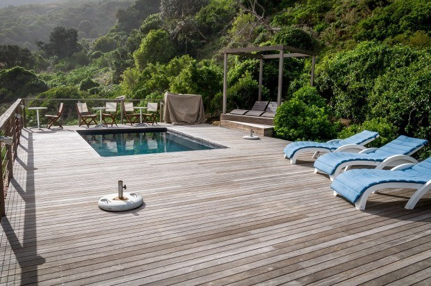 The Tintswalo Atlantic Cape Town hotel has a heated saltwater pool. The view from the Tintswalo is what makes this one of the best five star hotels in Cape Town.