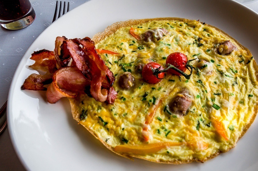 Breakfast omelet at the Tintswalo Cape Town.  The Tintswalo Atlantic breakfast menu is the perfect way to start your day!