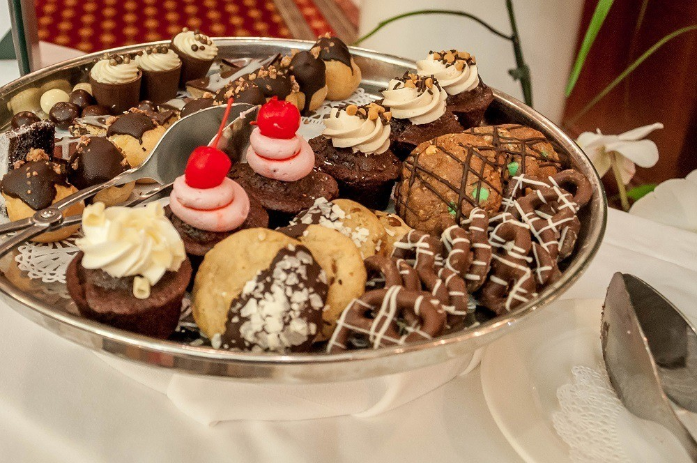 Chocolate delights served at The Jefferson Hotel's once-monthly chocolate tea service.