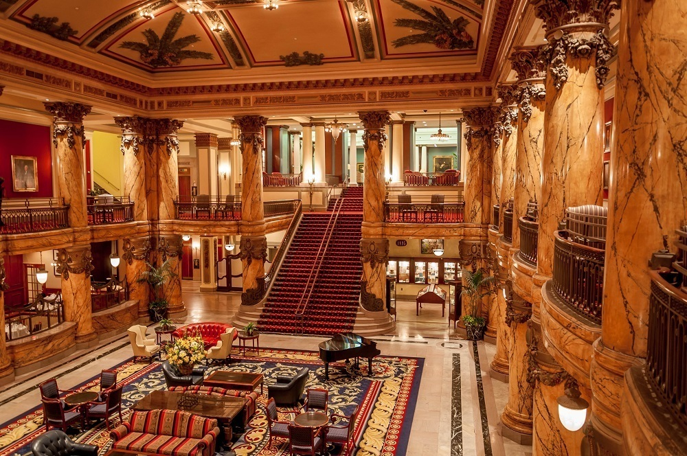 "The Grand Staircase at The Jefferson Hotel Richmond is said to have inspired the film ""Gone With The Wind."""