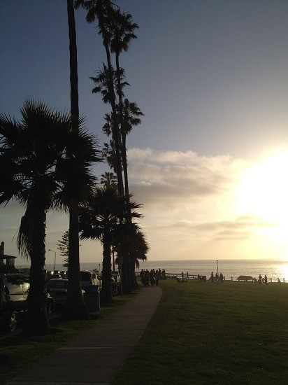 You can see beauitful sunsets from La Jolla Cove.