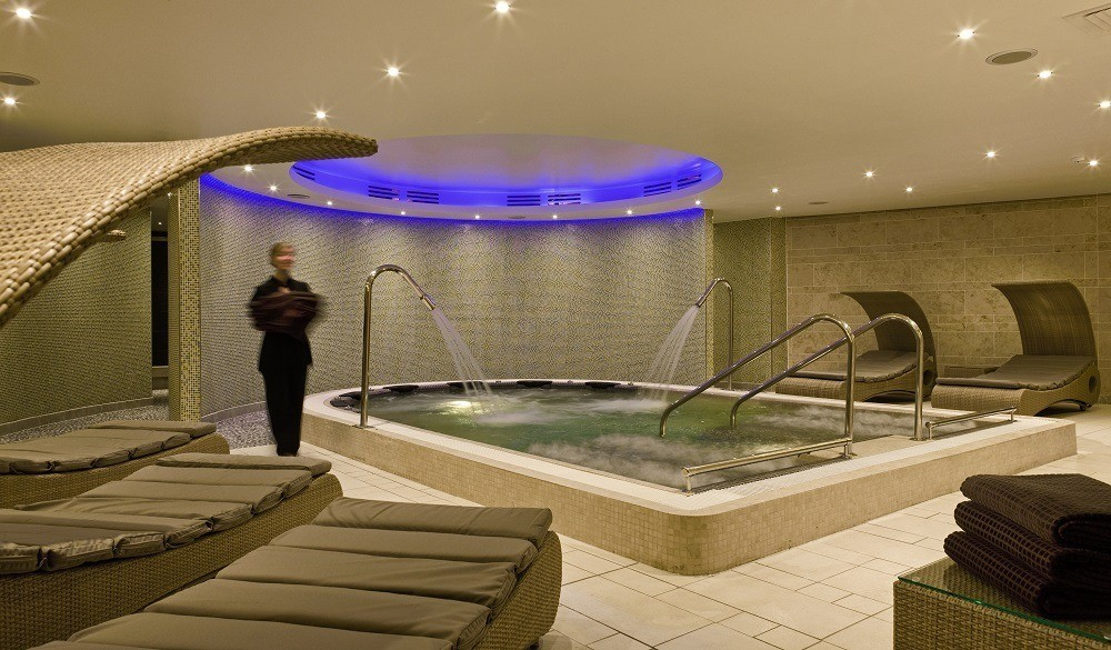 The spa pool at the Sofitel hotel at London's Heathrow Terminal 5.