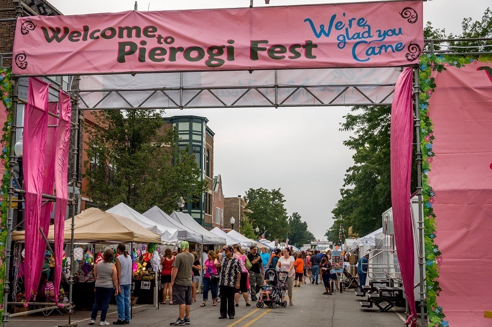 The street during the annual Pierogi Fest in Whiting, one of the top things to do in NWI