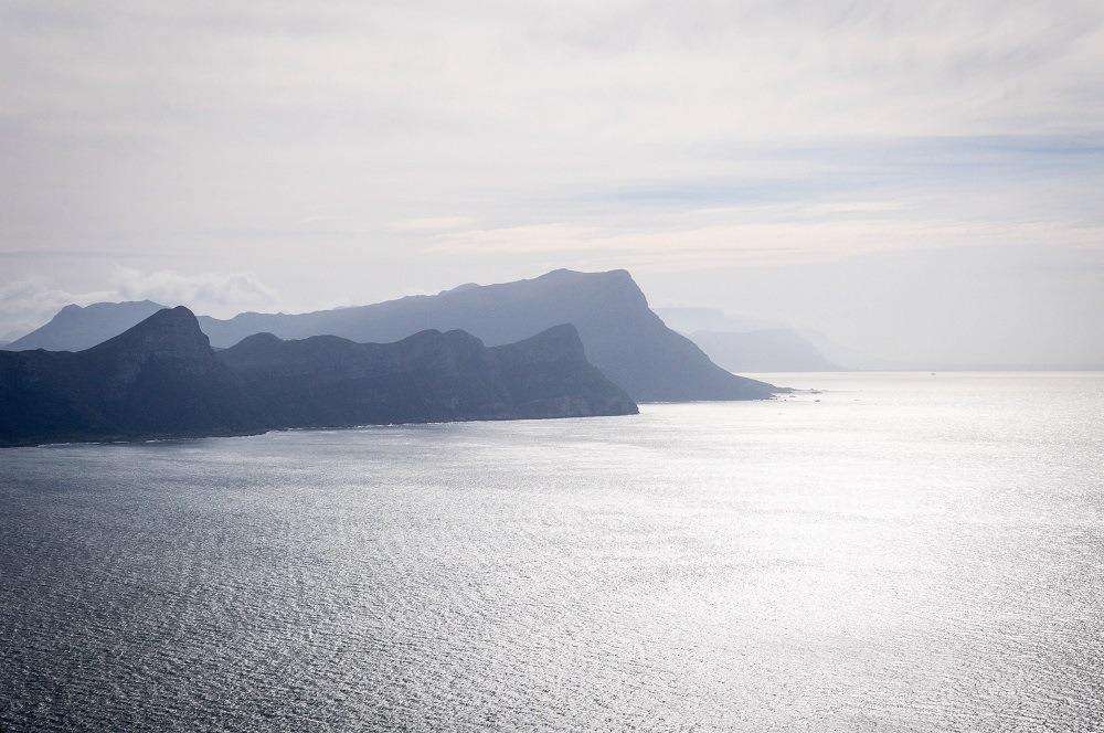 The Cape Peninsula in the haze