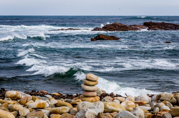 The rocky coastline of the Cape of Good Hope