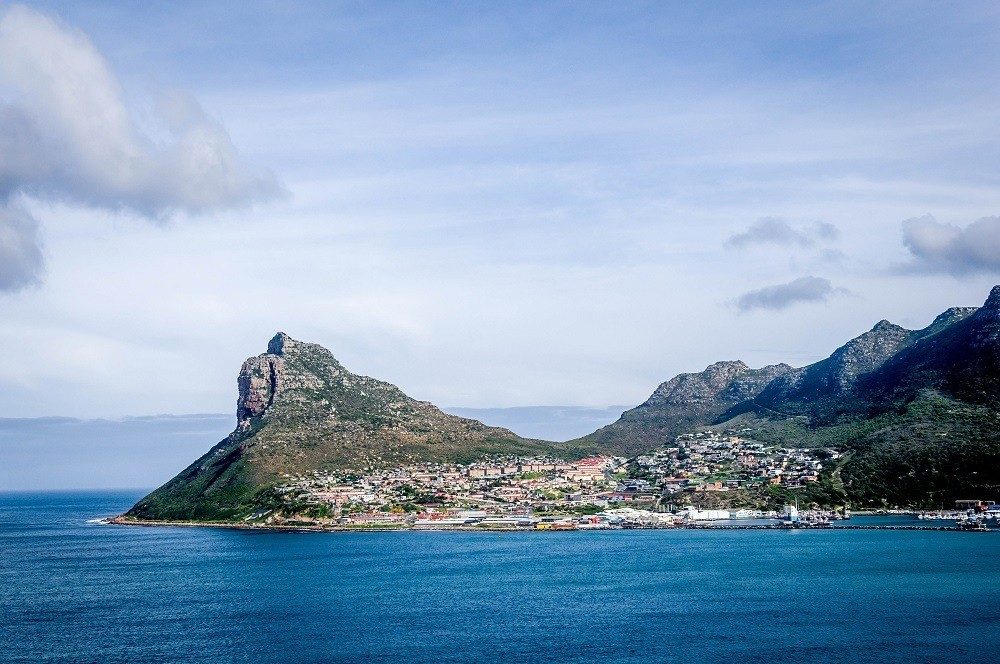 The view of Hout Bay and Sentinel Peak from Chapman's Peak Drive