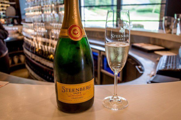The Sparkling Chardonnay (Mèthode Cap Classique) at Steenberg Vineyards in Constantia