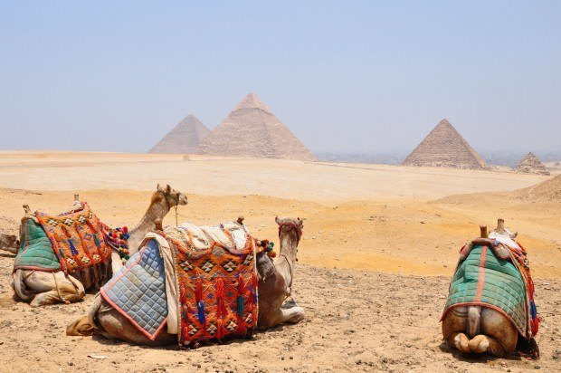 The Pyramids of Giza, one of the world's greatest UNESCO World Heritage Sites.