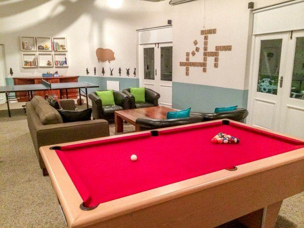 The game room at the Grootbos Private Nature Reserve Garden Lodge.
