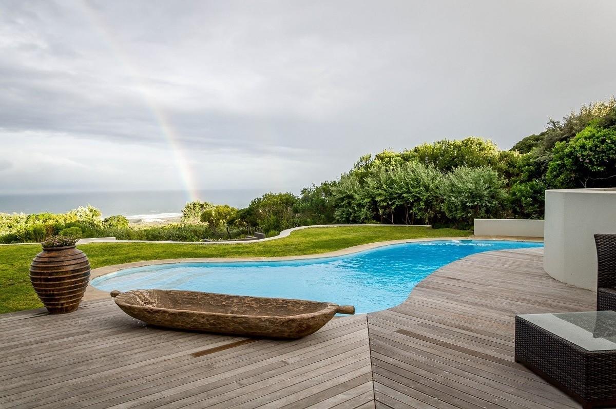 Rainbow over the Garden Lodge pool