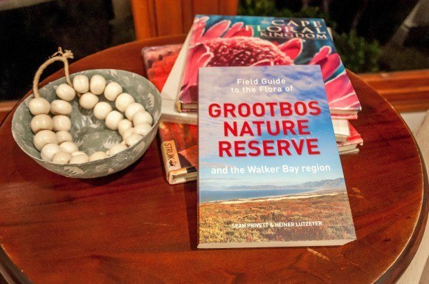 The Field Guide to the Flora of Grootbos Nature Reserve and the Walker Bay Region identifies the amazing biodiversity in the reserve.  The book by Sean Privett and Heiner Lutzeyer was in our room at the Grootbos Garden Lodge. The Grootbos Private Nature Reserve turned out to be one of our favorite South Africa Resorts.