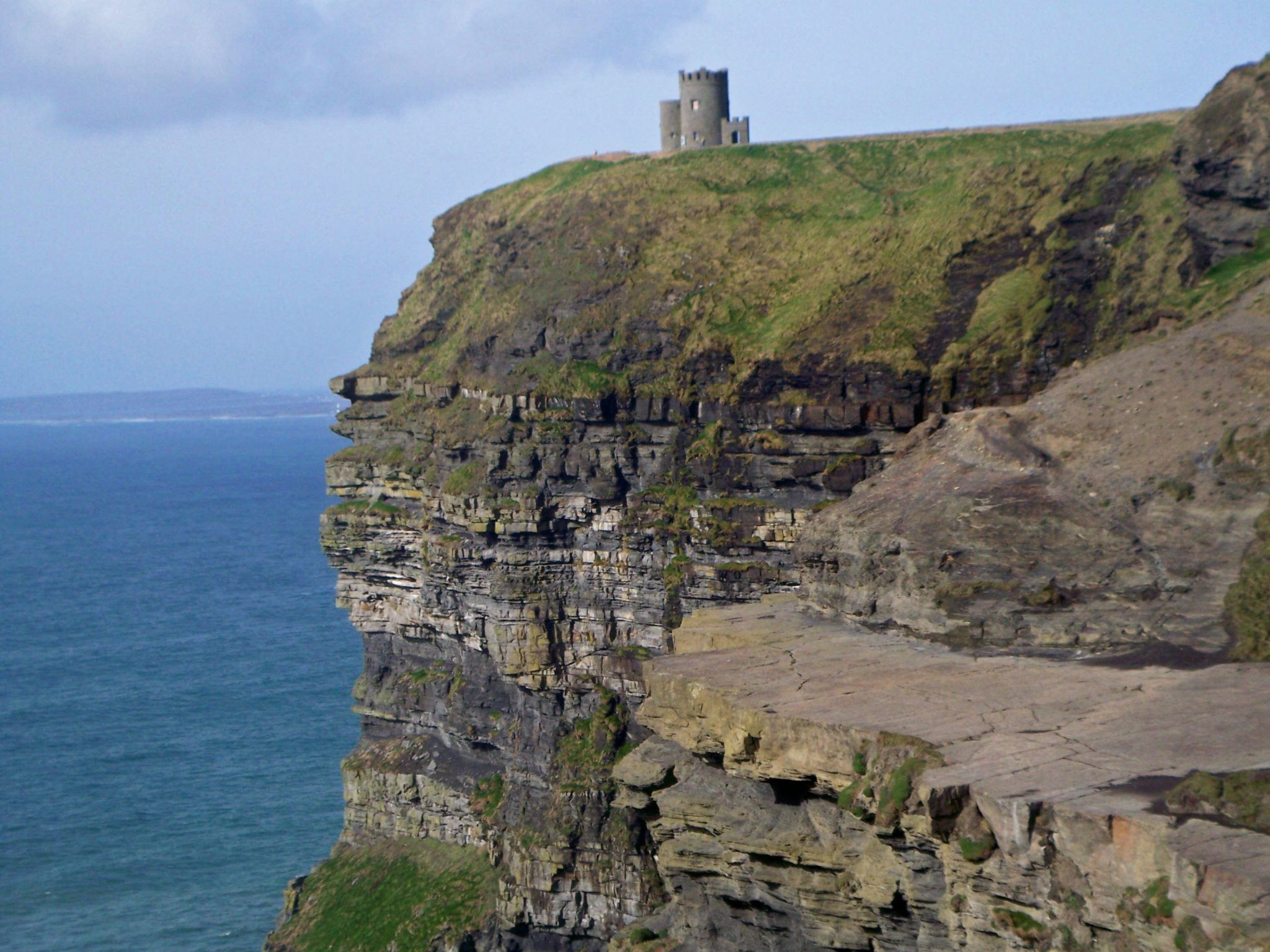 If you have a fear of heights, Ireland's Cliffs of Moher can be a difficult place to visit.