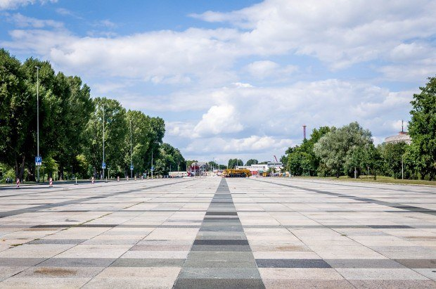 The Great Road at the Nazi Party Rally Grounds in Nuremberg, Germany.