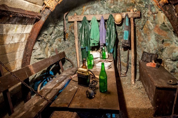 Inside the Slovak Mining Museum, we could see where the miners would eat their lunches and take their breaks.