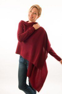 2014 Holiday Gift Guide Travel Selection:  The Red Twist cashmere wrap.