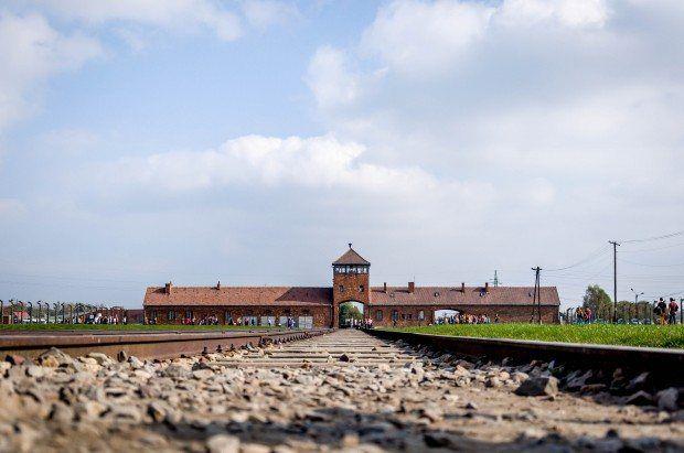The arrival platforms at the Auschwitz-Birkenau concentration and extermination camp - the largest camp in the Nazi system.