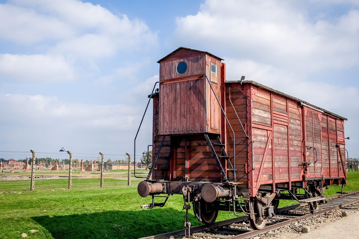 The boxcar on the Auschwitz concentration camp tour