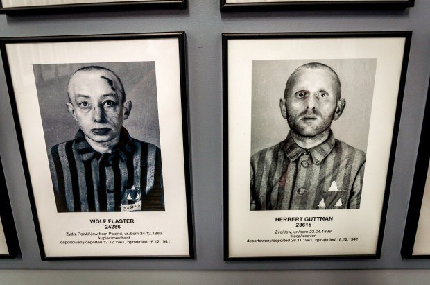 On the Auschwitz concentration camp tour, visitors can see profiles of the victims of the Holocaust.