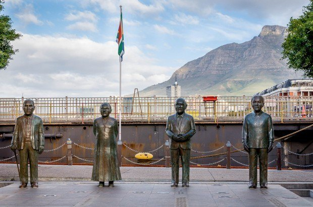 Nobel Square recognizing South Africa's 4 Nobel Peace Prize Winners at the V&A Waterfront.