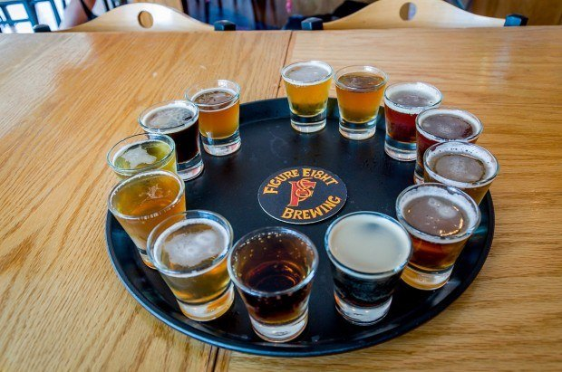 The epic beer tasting at Figure Eight Brewery on the South Shore Brewery Trail.