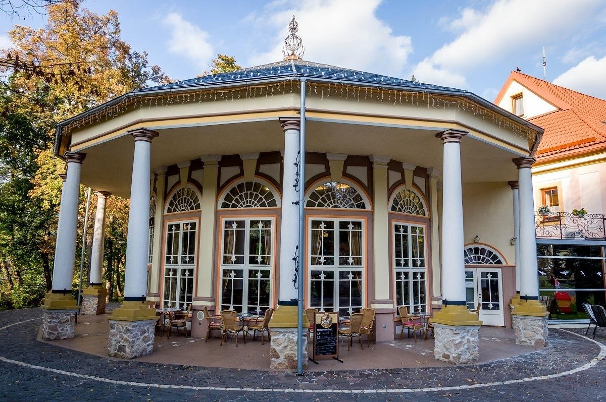 The art nouveau Kursalon and cafe