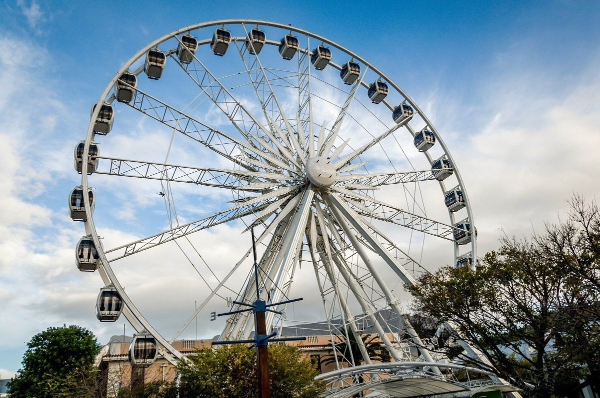 The Cape Wheel at the V&A Waterfront, which is one the top Cape Town attractions